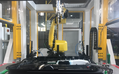 Robotic ultrasonic plastic welding