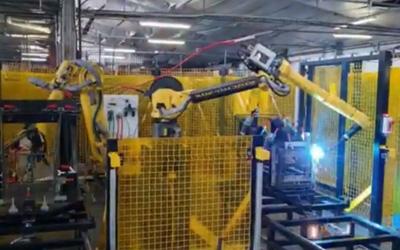 Robotic Shopping Trolley Welding
